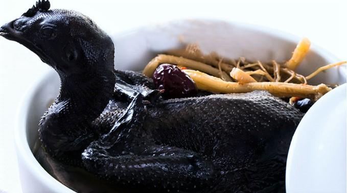 cách làm món gà ác tiềm thuốc bắc